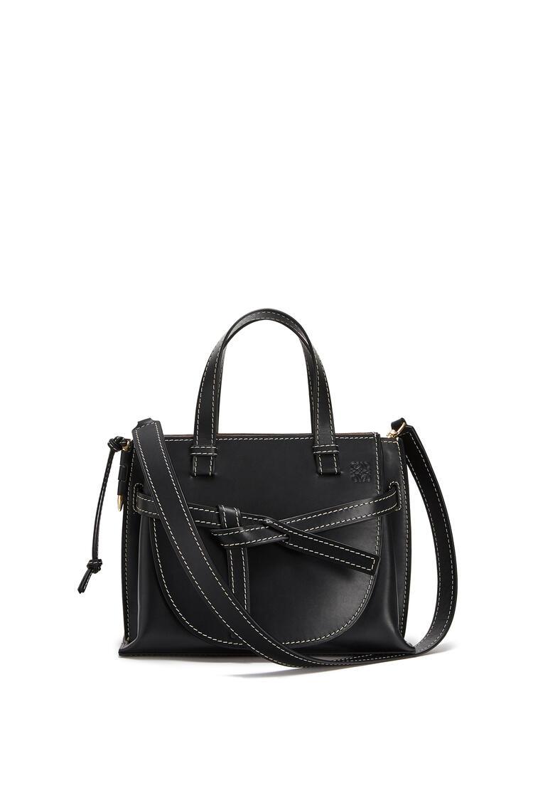 LOEWE Small Gate Top Handle bag in natural calfskin Black pdp_rd