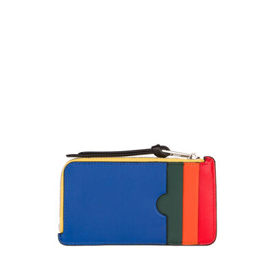 LOEWE Rainbow Coin/Card Holder Multicolor/Black front
