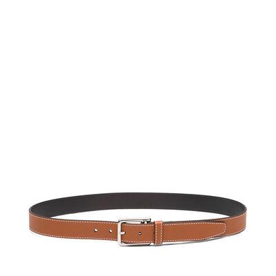 LOEWE Rectangular Belt 3.2Cm Tan/Black/Palladium front