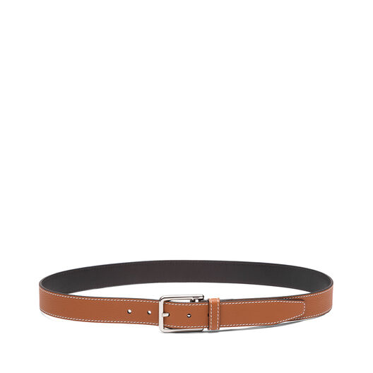 LOEWE Rectangular Belt 3.2Cm 棕褐色/黑色/金属灰 all