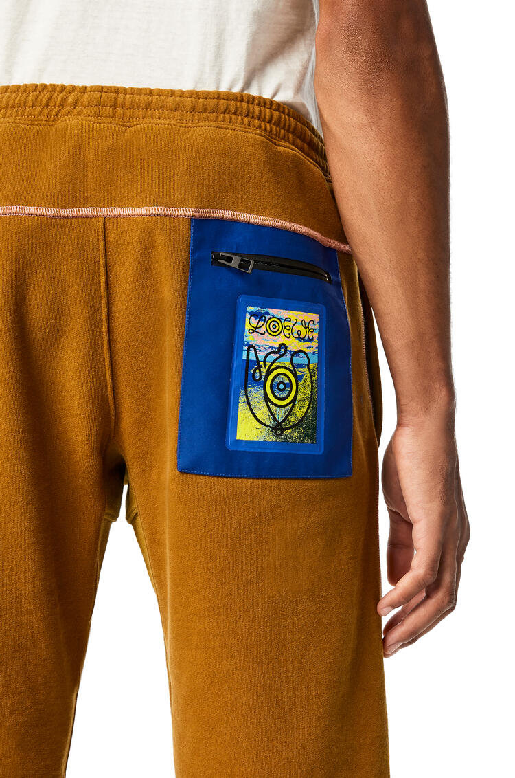 LOEWE Fleece shorts in cotton Camel pdp_rd