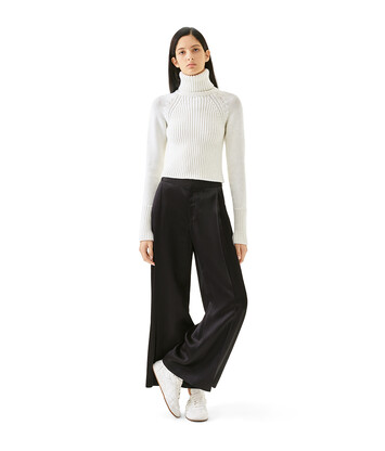 LOEWE Cropped Turtleneck Sweater Ecru front