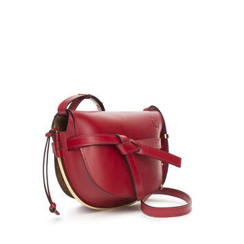 LOEWE Gate Frame Small Bag 暗红色 front
