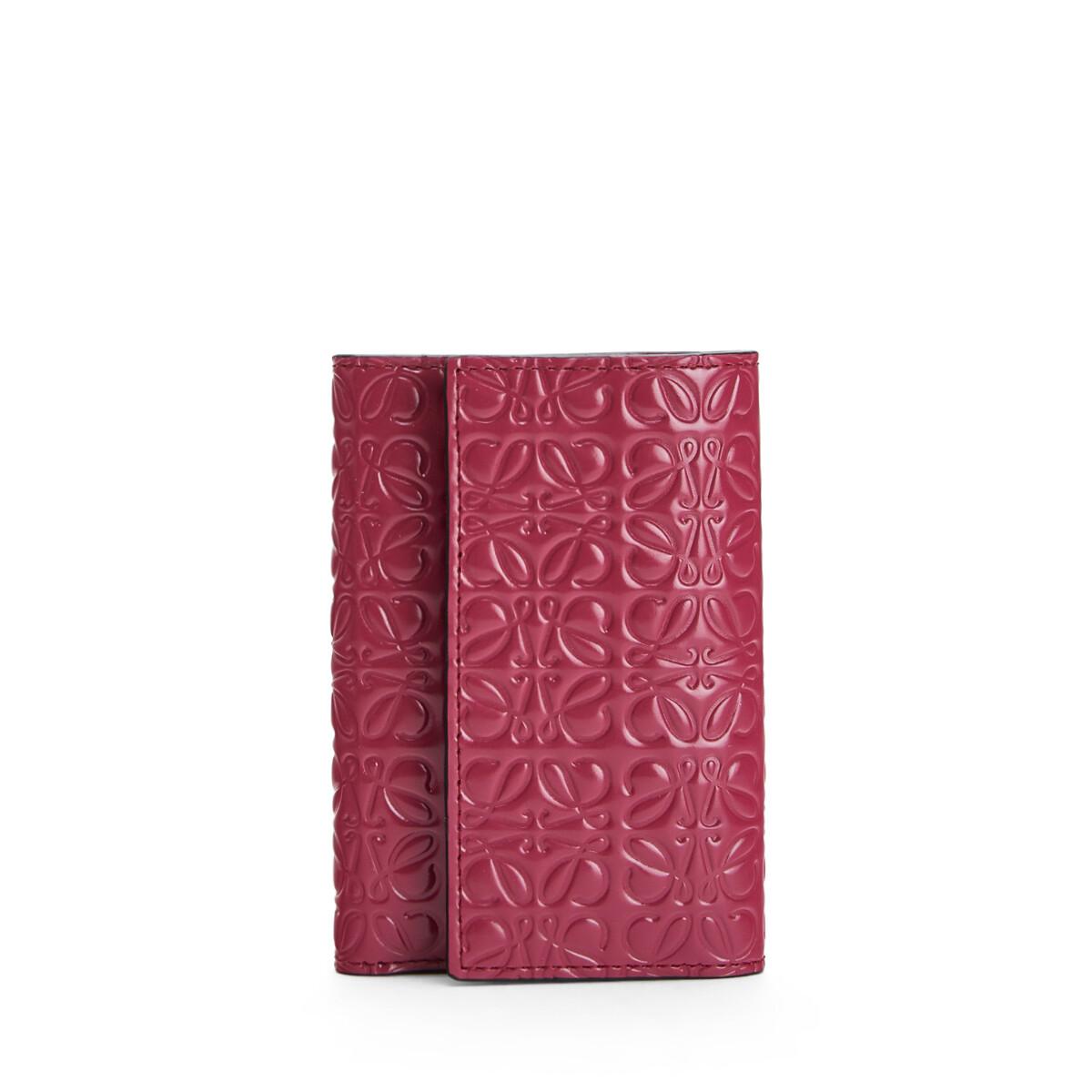 LOEWE Small Vertical Wallet ラズベリー front