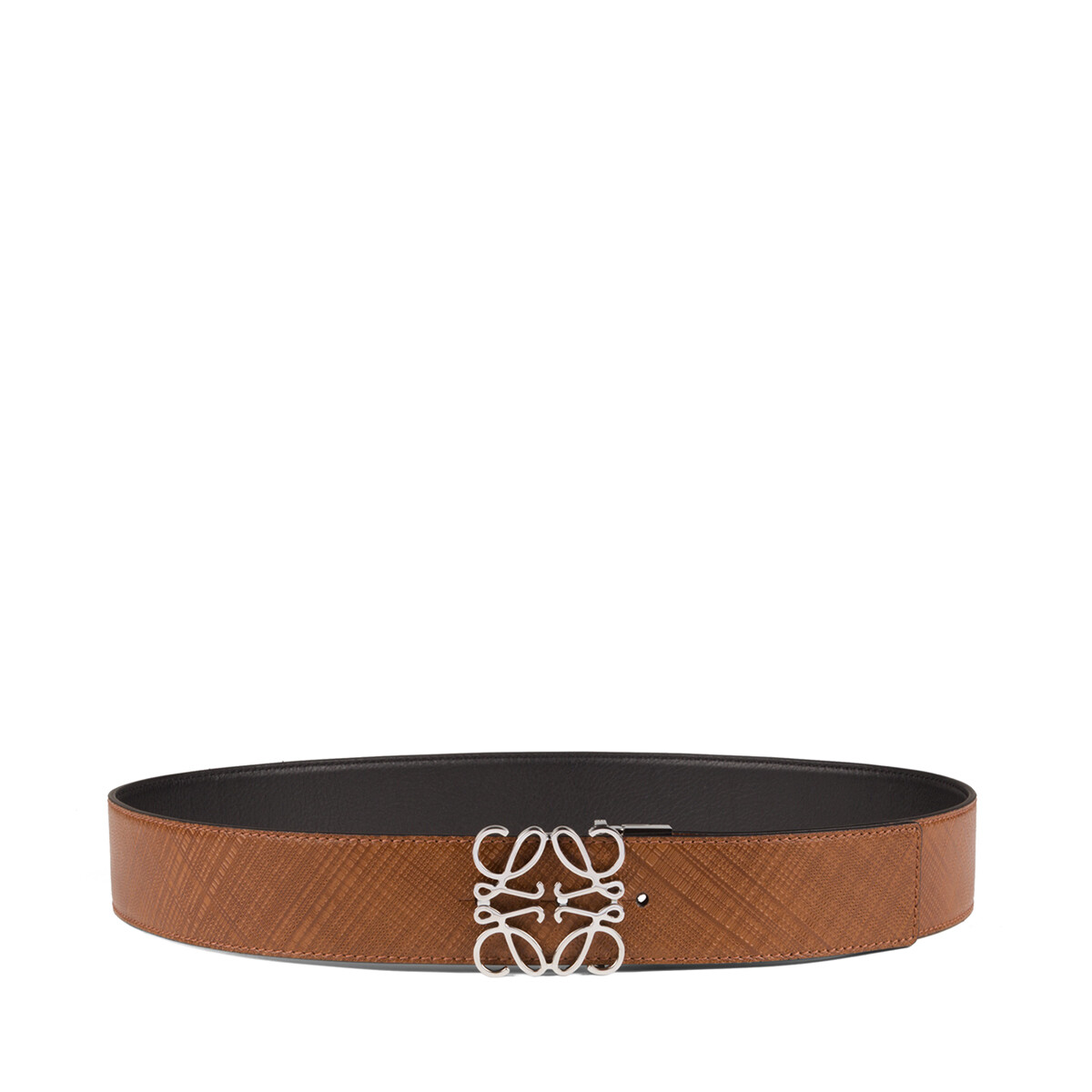 LOEWE Anagram Belt 4Cm Adj/Rev Dark Brown/Black front