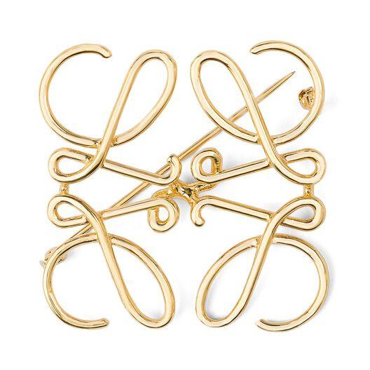 LOEWE Anagram Brooch Gold front