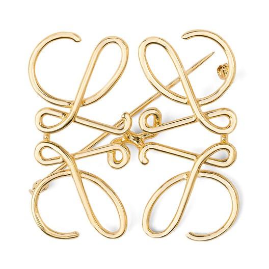 LOEWE Broche Anagrama Oro front
