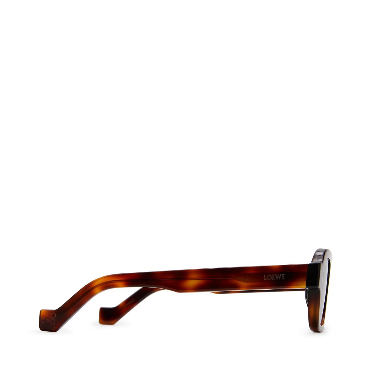 LOEWE Square Sunglasses Black/Havana front
