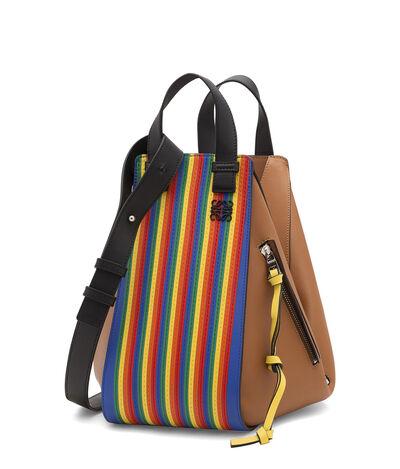 LOEWE Hammock Rainbow Medium Bag Multicolor/Tan front