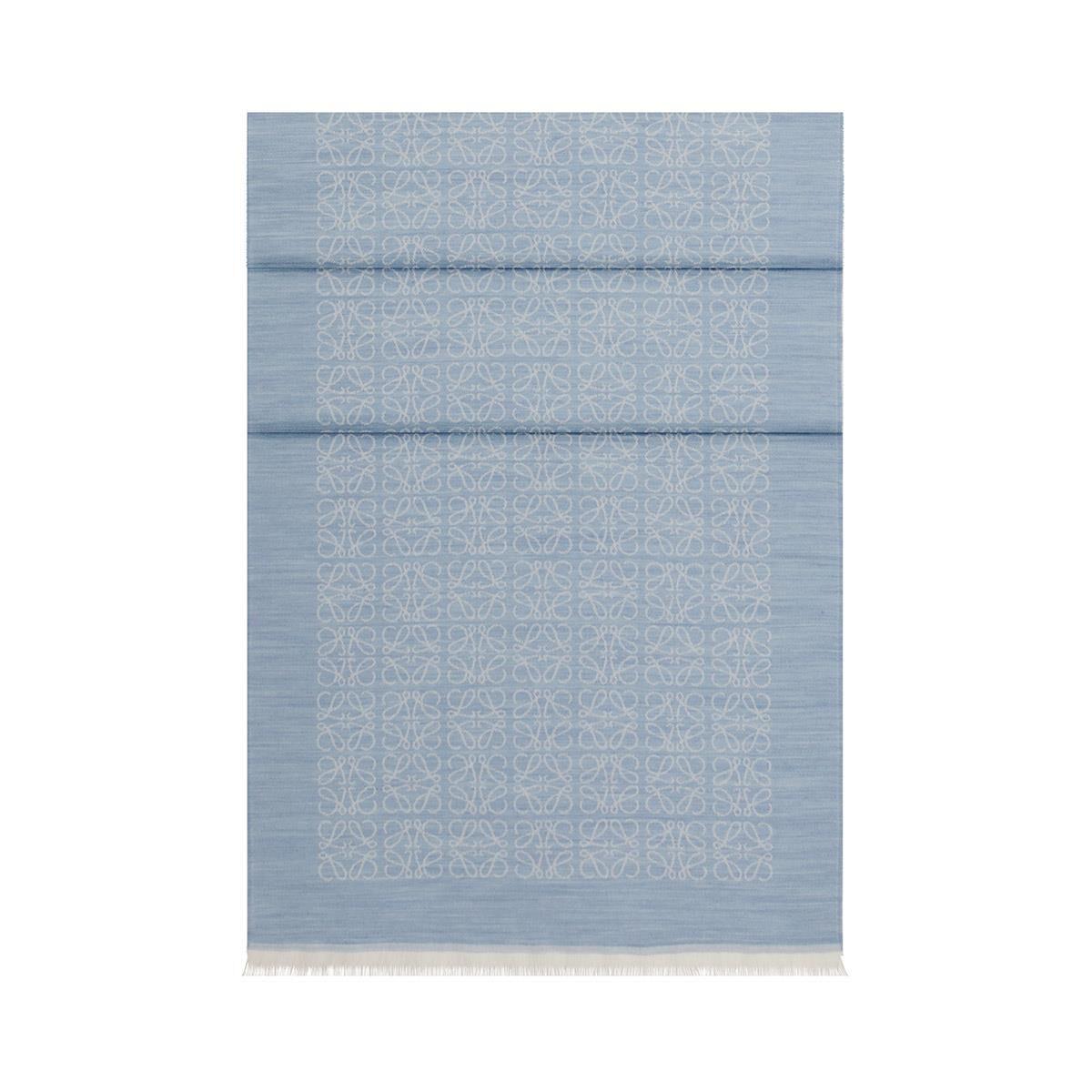 LOEWE 50X180 Bufanda Monogram Azul all