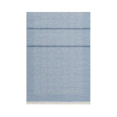 LOEWE 50X180 Scarf Monogram Blue front
