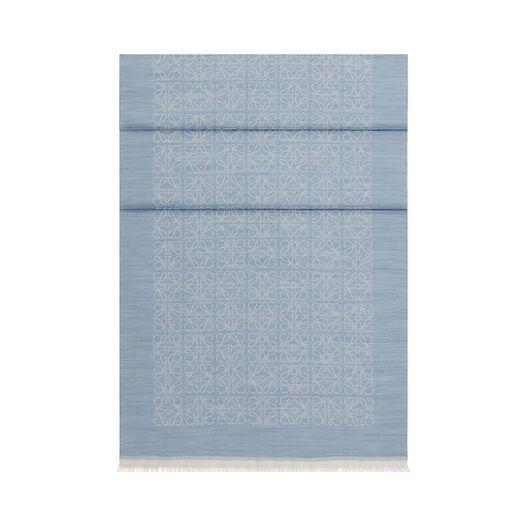 LOEWE 50X180 Scarf Monogram Blue all
