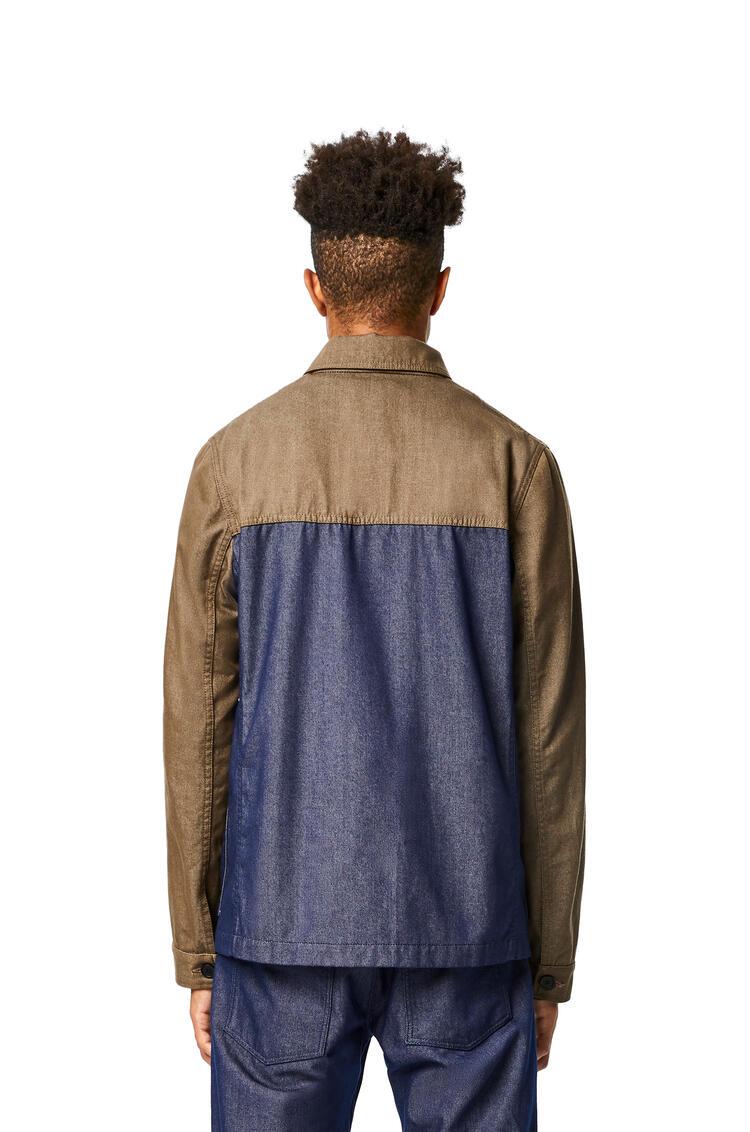 LOEWE Chaqueta de trabajo en algodón Verde Kaki/Azul pdp_rd
