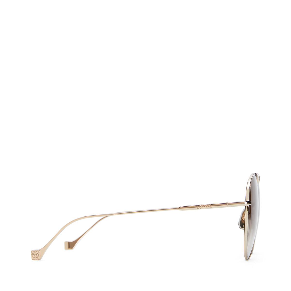 LOEWE Metal Knot Pilot Sunglasses Rose Gold/Brown front