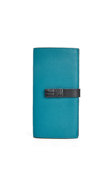 LOEWE Large vertical wallet in soft grained calfskin Dark Lagoon pdp_rd