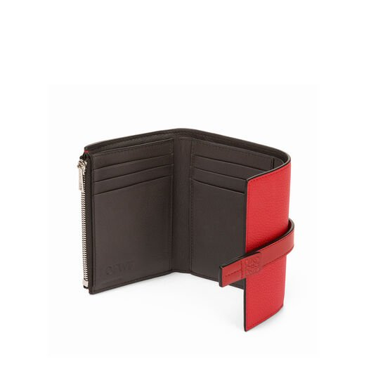 LOEWE Small Vertical Wallet Scarlet Red/Brick Red front
