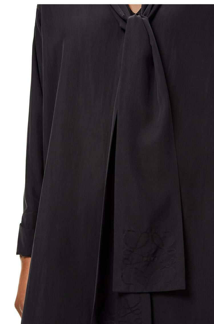 LOEWE Anagram jacquard lavaliere mini dress in silk Black pdp_rd