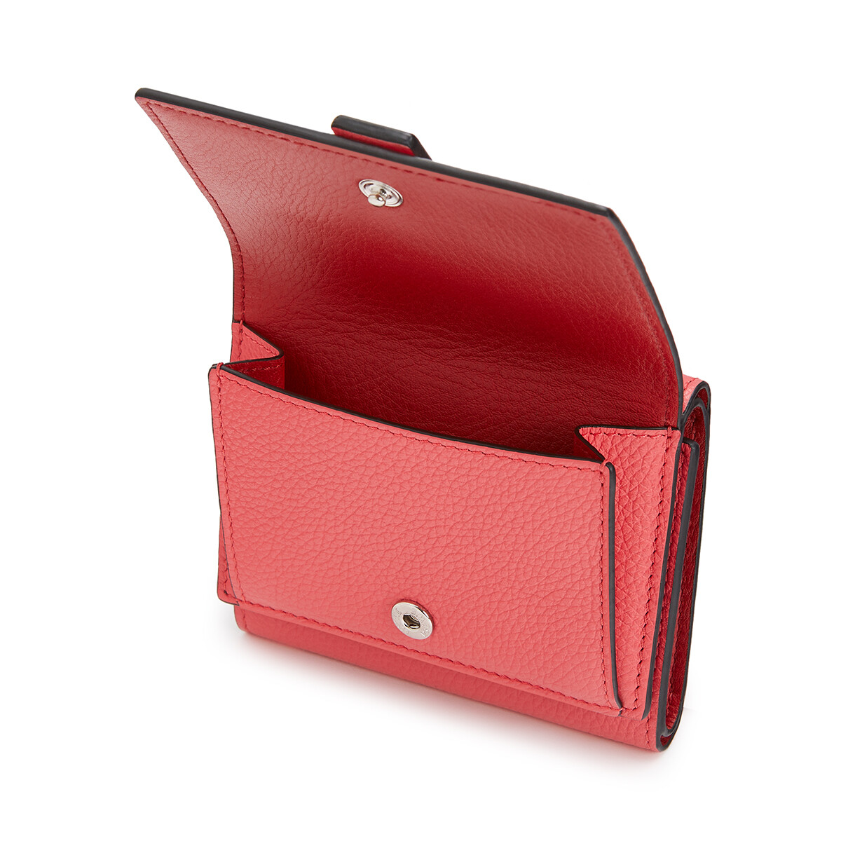 LOEWE Trifold Wallet Poppy Pink front