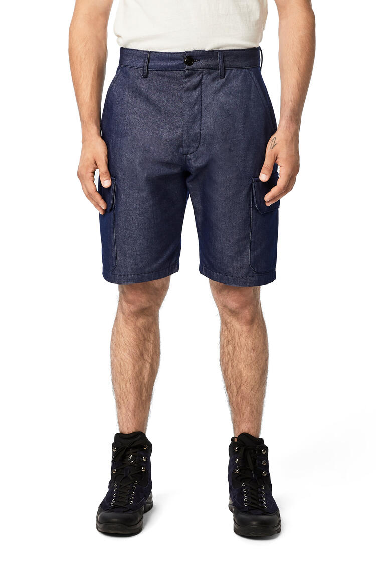 LOEWE Shorts In Cotton Navy Blue pdp_rd