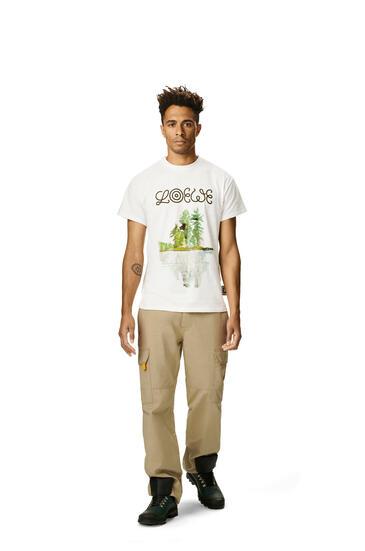 LOEWE Camiseta en algodón con acuarela Blanco pdp_rd
