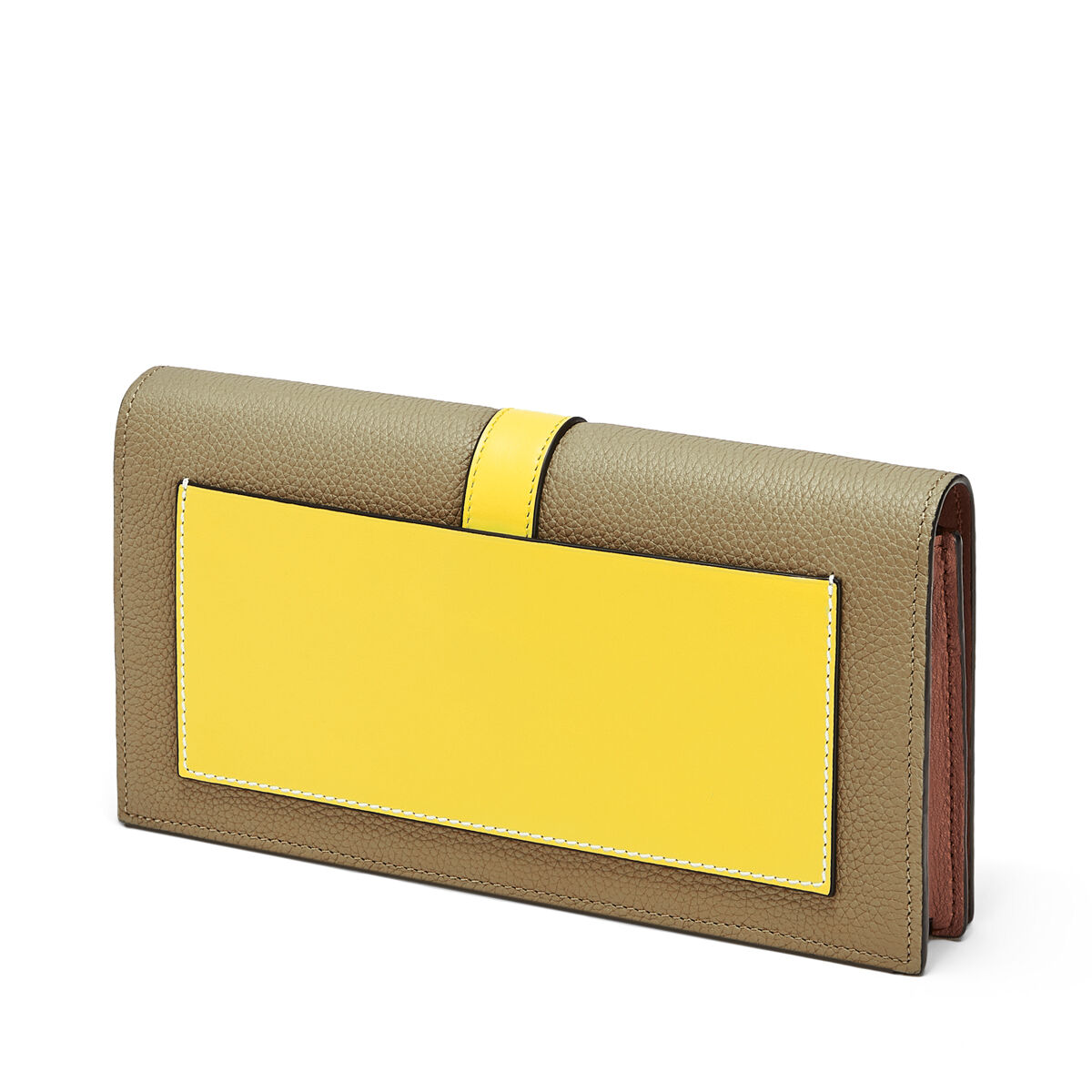 LOEWE ウォレットWITHチェーン リーフ/イエロー all