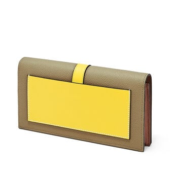 LOEWE Wallet On Chain Leaf/Yellow front
