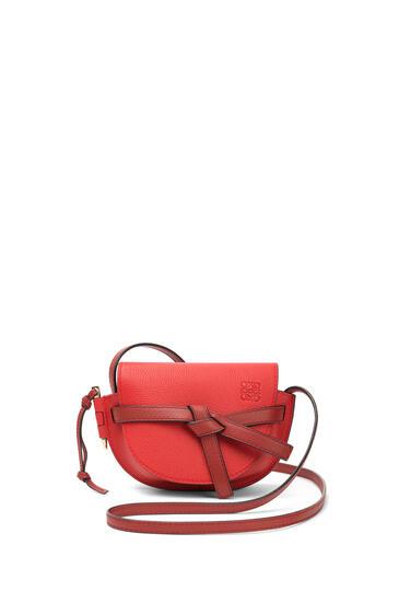 LOEWE Mini Gate Bag In Soft Grained Calfskin Scarlet Red/Burnt Red pdp_rd