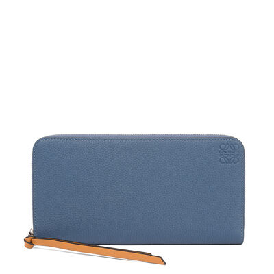 LOEWE Zip Around Wallet Varsity Blue/Honey front