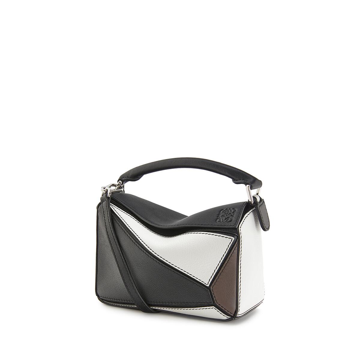 LOEWE Puzzle Mini Bag Black/Taupe front