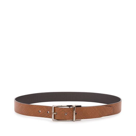 LOEWE Formal Belt 3.2Cm Adj/Rev dark brown/black/ruthenium all