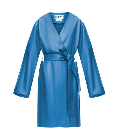 LOEWE Abrigo Corto Azul front