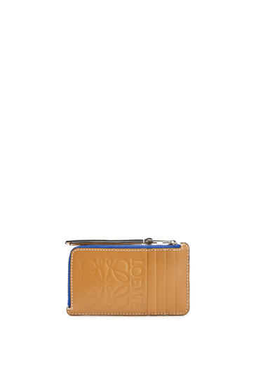 LOEWE Large coin cardholder in calfskin Electric Blue/Orange pdp_rd
