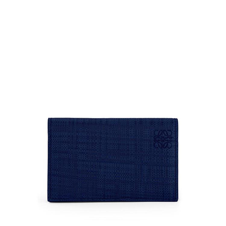 LOEWE Business cardholder in calfskin Navy Blue pdp_rd