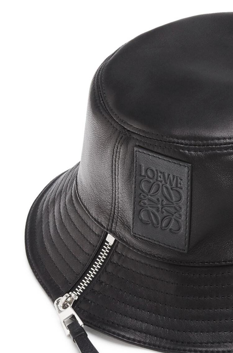 LOEWE Sombrero de pescador en piel napa Negro pdp_rd