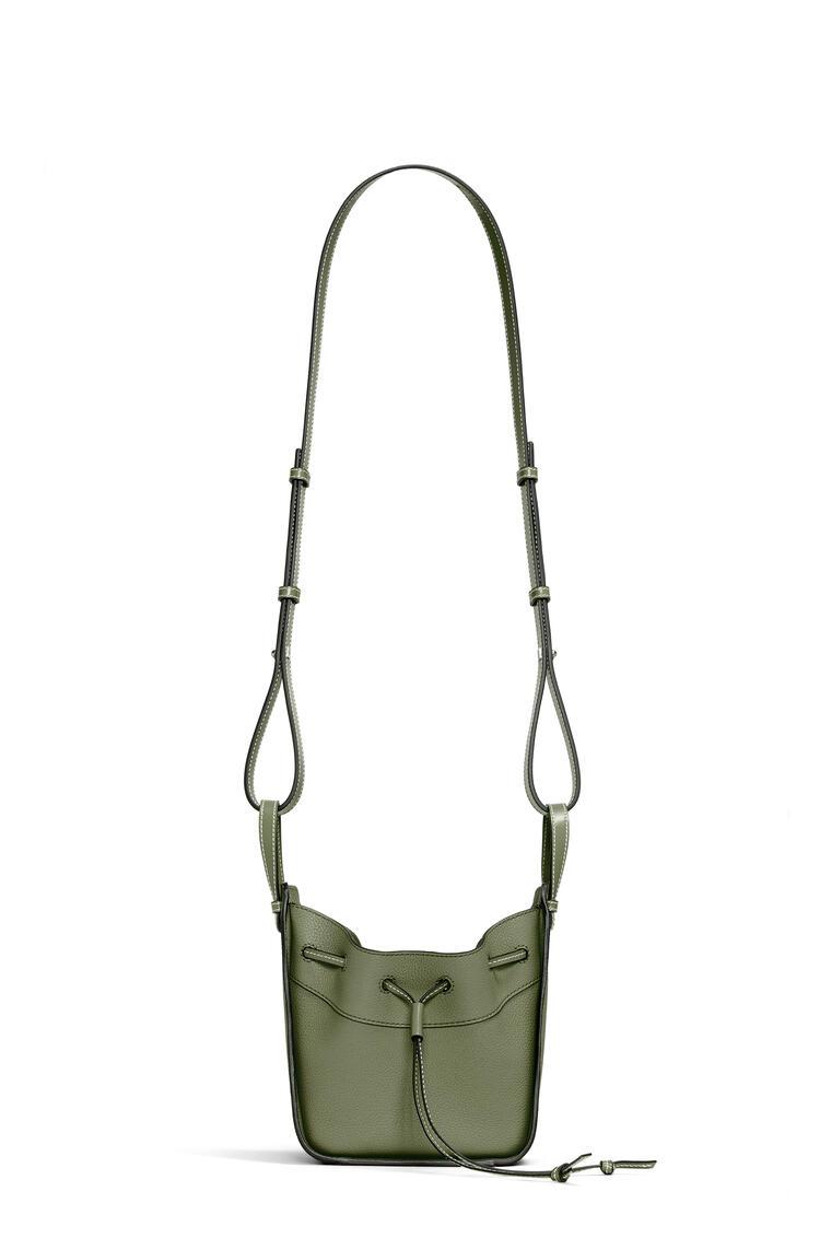 LOEWE Mini Hammock Drawstring bag in soft grained calfskin Avocado Green pdp_rd