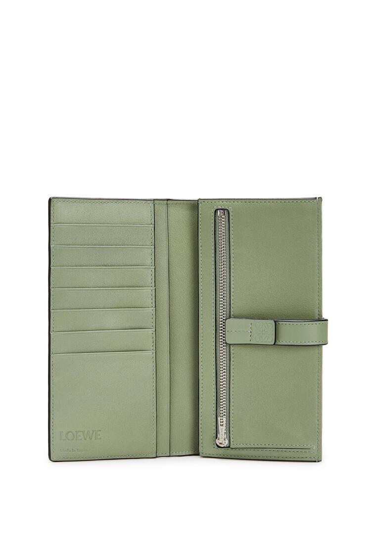 LOEWE Large Vertical Wallet In Soft Grained Calfskin Sage/Pale Green pdp_rd