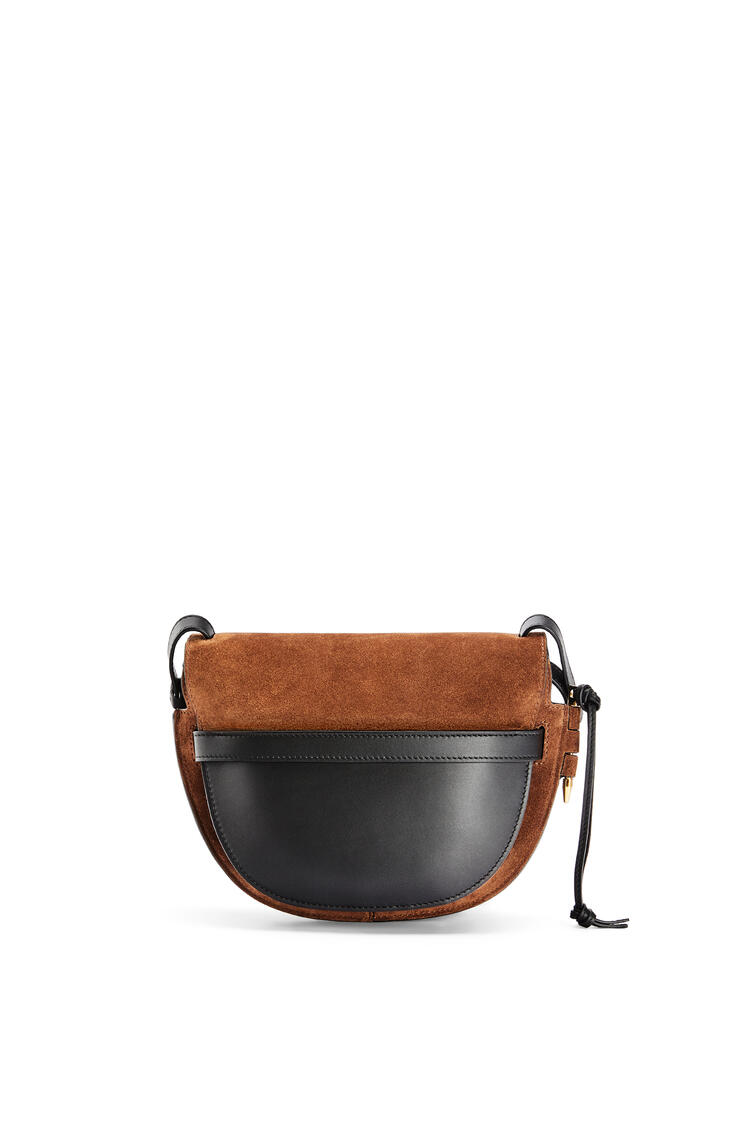 LOEWE Small Gate bag in suede and calfskin Cacao pdp_rd