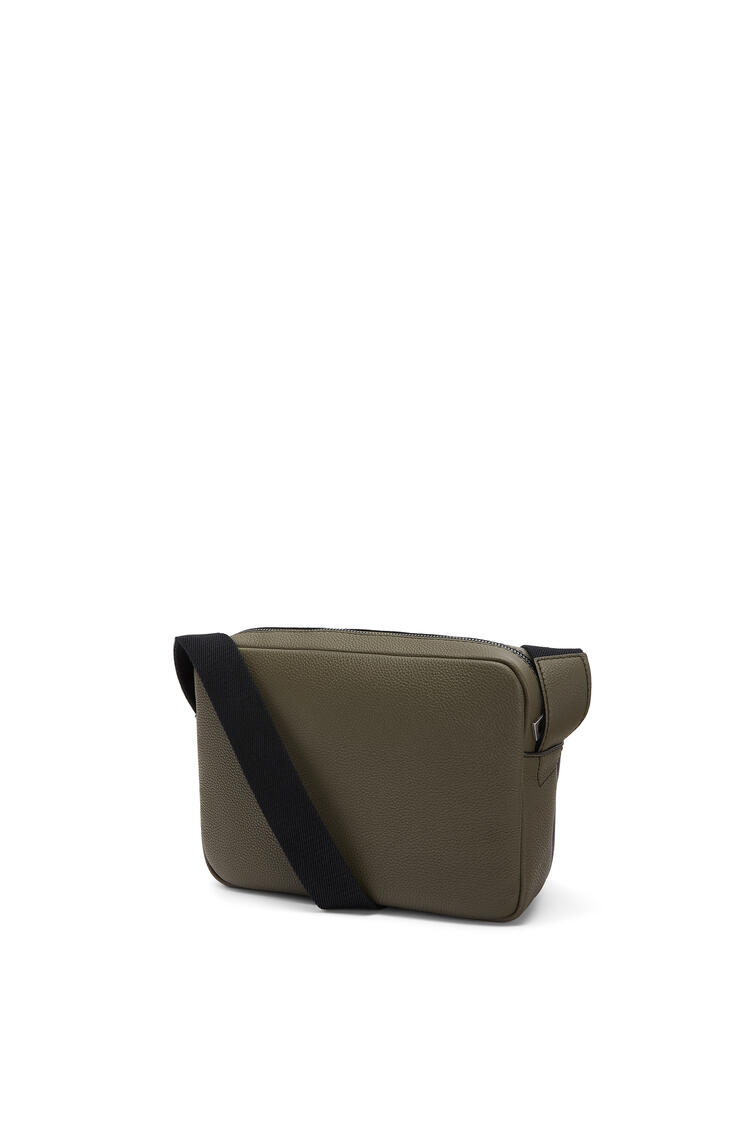 LOEWE XS Military messenger bag in calfskin Khaki Green/Black pdp_rd