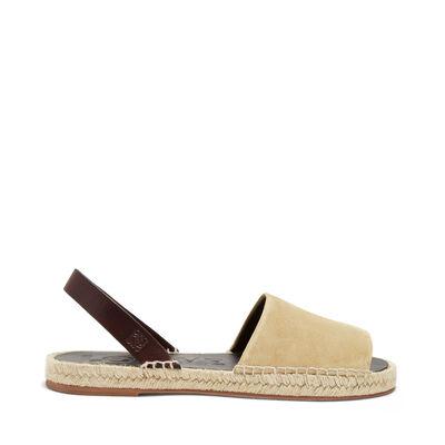 LOEWE Espadrille Sandal Gold/Tan front