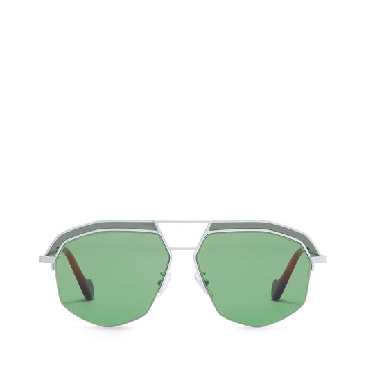 LOEWE Gafas Geometricas Blanco Optico/Verde Brillante all