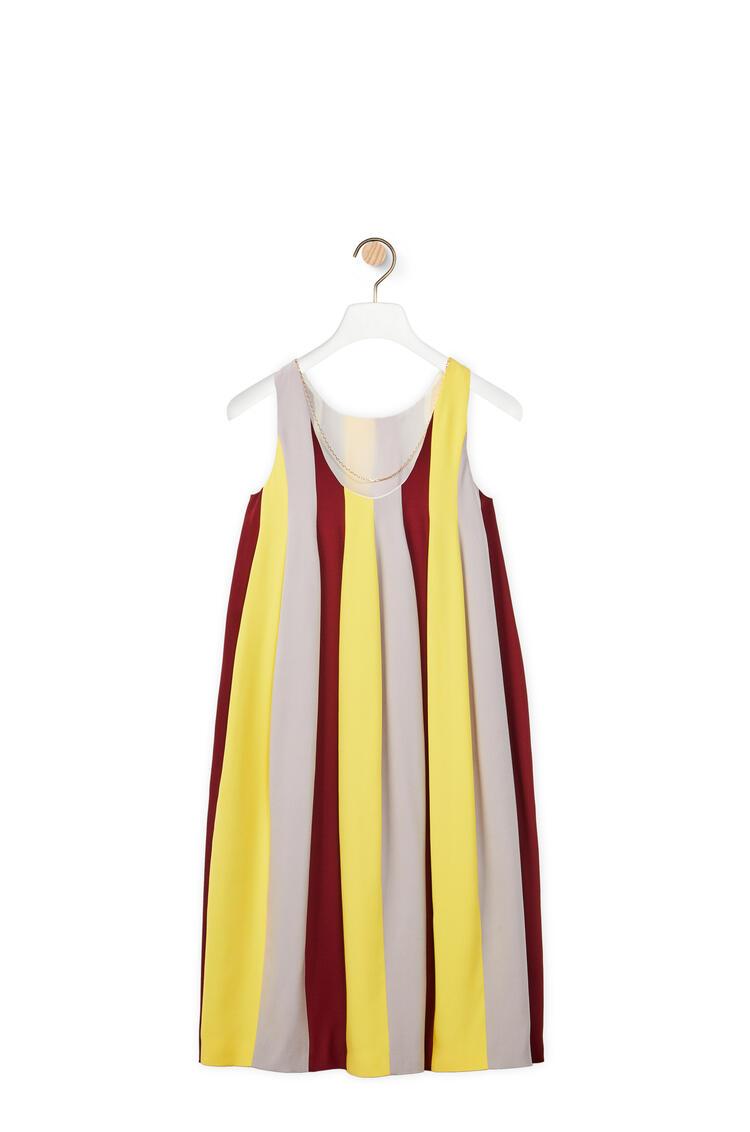 LOEWE Vestido midi globo sin mangas en seda y lana Multicolor pdp_rd