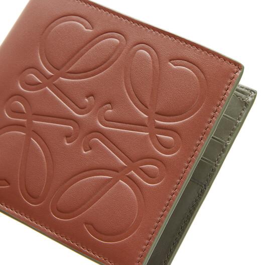 LOEWE Brand Bifold Wallet Cognac front