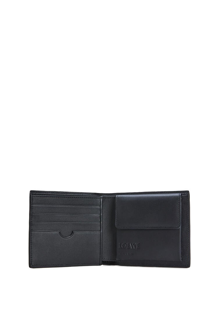 LOEWE Puzzle bifold coin wallet in calfskin Black pdp_rd