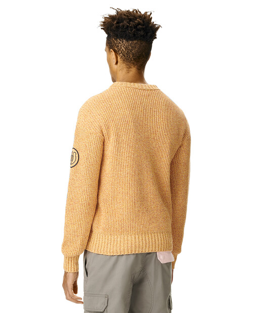 LOEWE Eln Melange Crewneck Sweater 芥末 front