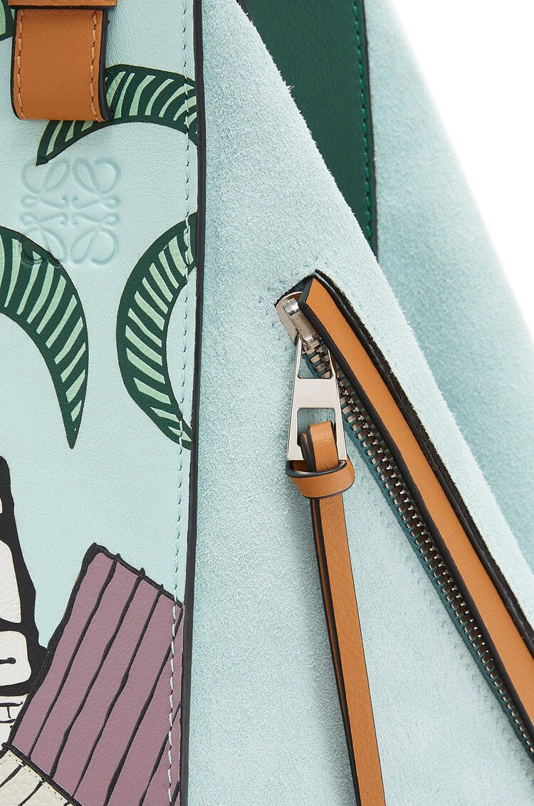 LOEWE 小号复活节岛经典牛皮革 Hammock 手袋 Mint/Multicolor pdp_rd