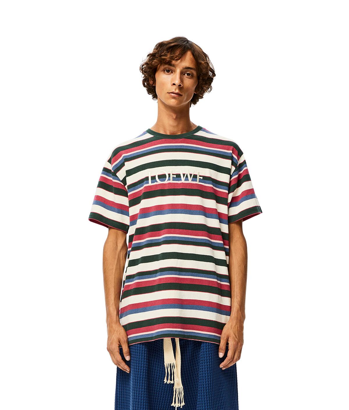 LOEWE Loewe Stripe T-Shirt Multicolor front