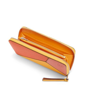 LOEWE Puzzle Zip Around Wallet Orange/Mandarin front