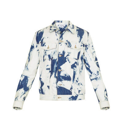 LOEWE Denim Jacket Bleached Bleached Indigo front
