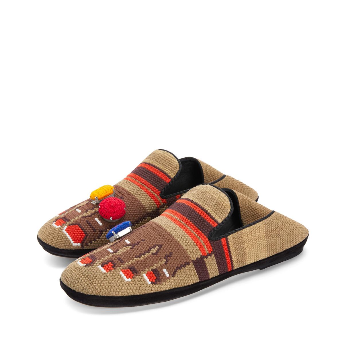 LOEWE Foot Slipper 沙色/棕色 front