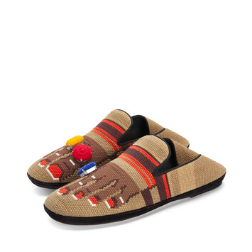 LOEWE Foot Slipper Sand/Brown front